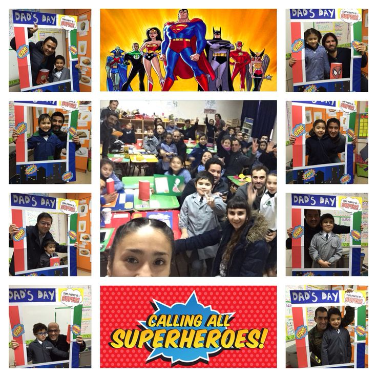 Superheroes Party for Dad's Day