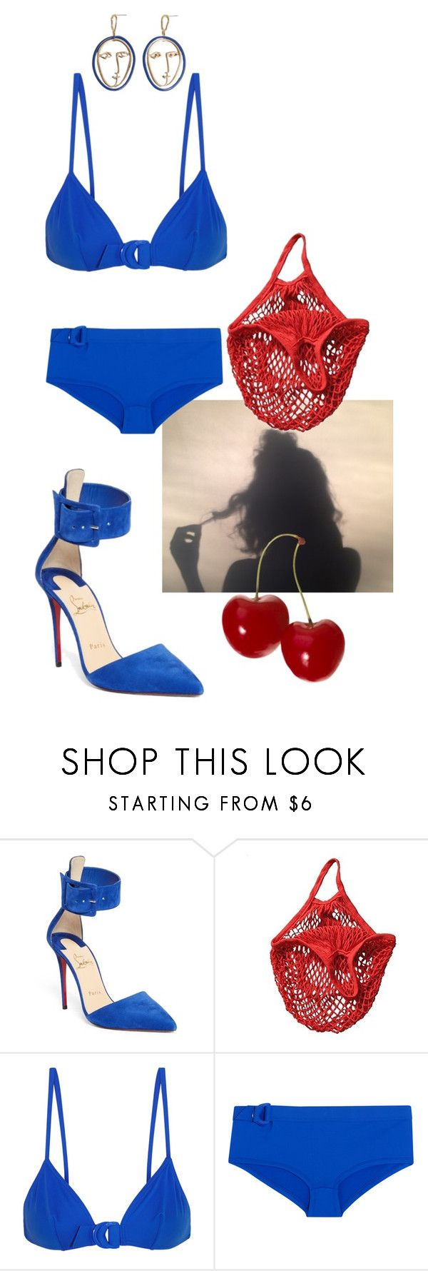 """Untitled #209"" by gina-stewart75 on Polyvore featuring Christian Louboutin, Eres and MANGO"