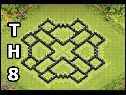 Best Clash of Clans Town Hall 8 Farming Base   Updated 4 Mortars TH8 Base   Design by Gozo COC - YouTube