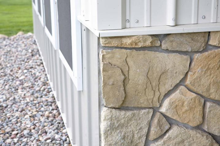 Faux Stone On House Exterior