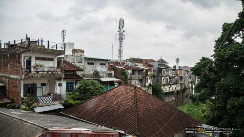 Rooftops of Denpasar, Bali, Indonesia.