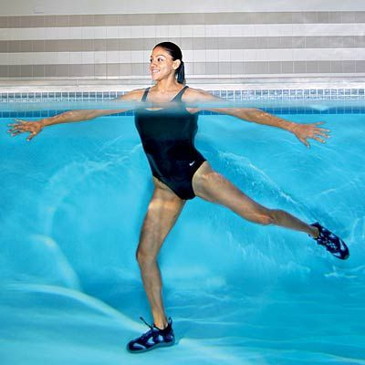 Get Thinner Thighs With These Pool Exercises ...since we live at the pool during the summer...Im going to try this!