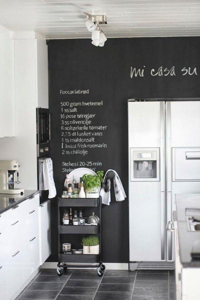 Eine riesen Tafel für alle Rezepte in der Küche
