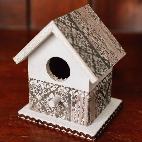Decorated romantic bird house