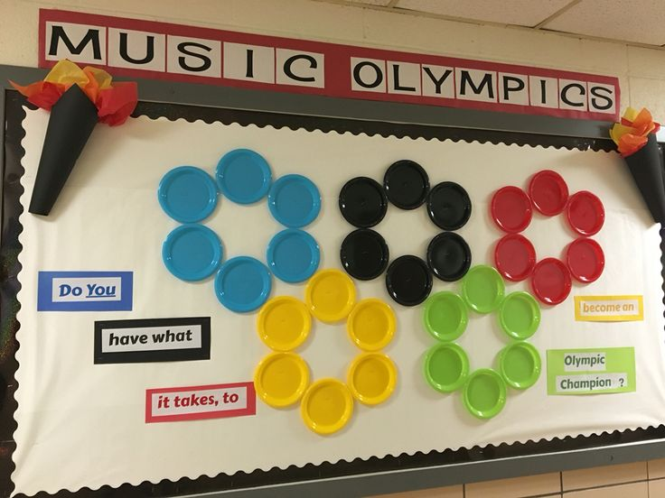 Music Olympics bulletin board