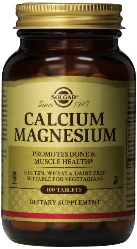 Solgar Calcium Magnesium Tablets – 100 tablets - http://vitamins-minerals-supplements.co.uk/product/solgar-calcium-magnesium-tablets-100-tablets/