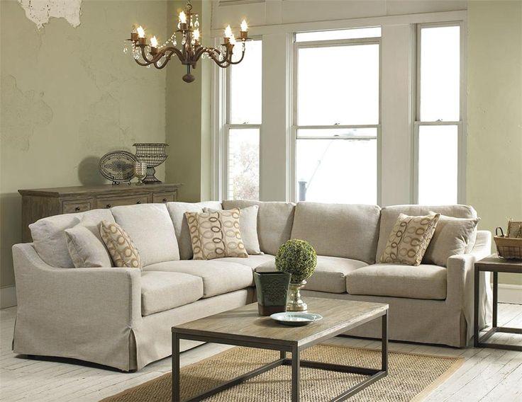 Belgian Linen Slipcover Look Sectional Belfort Furniture