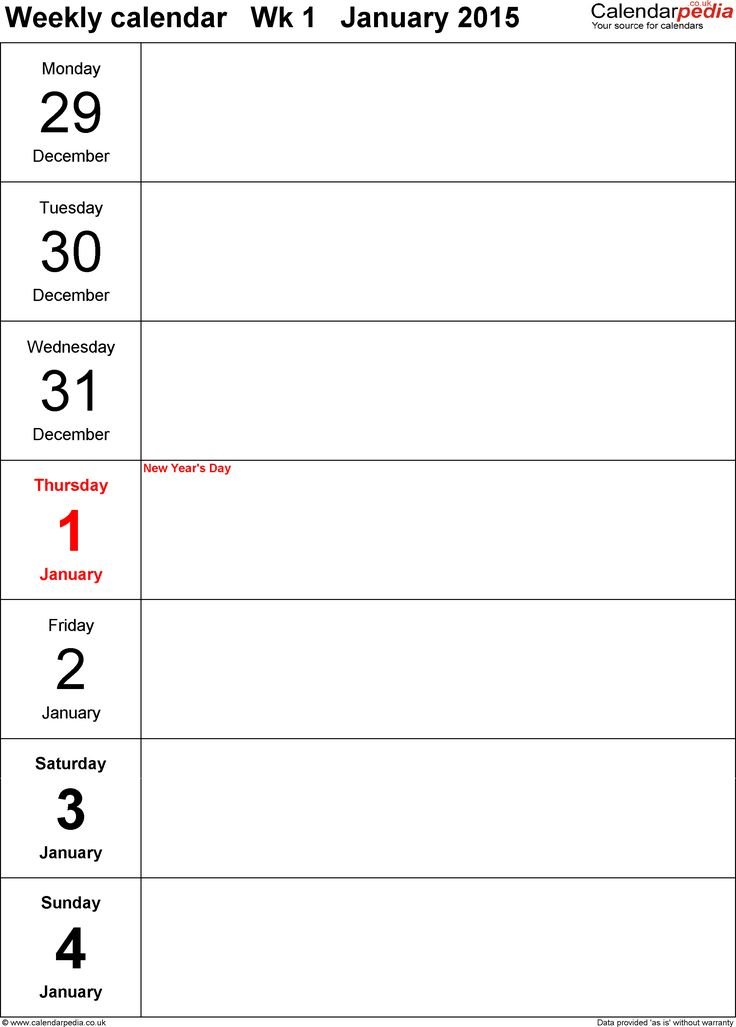 The 25+ best Calendario 2015 excel ideas on Pinterest Marketing - daily planner word template