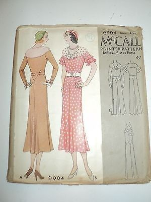 McCall 6904 | 1932 Ladies' & Misses' Dress