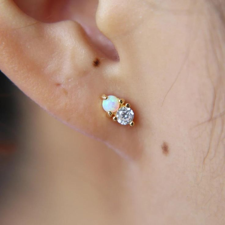 Liliana Skye | Tiny Ball Opal Stud Earrings #opalearringstuds
