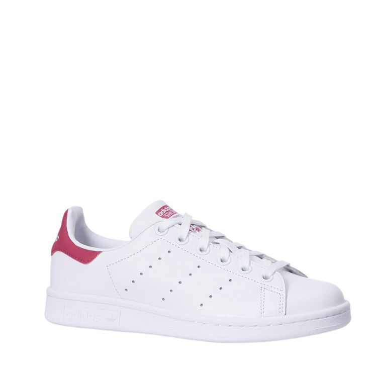 vette adidas originals Stan Smith J sneakers Wit/roze