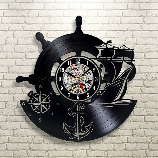 Best Birthday Gift for Sailers Vinyl Clock for Bed Room Wall Personalized Couples Gifts | Matching Necklaces and Bracelets | Custom Wedding Rings | Engraved Jewelry