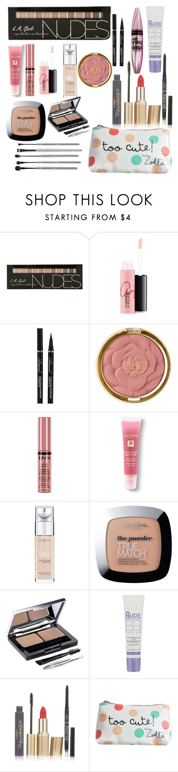 """""""Teen make up starter kit ❤️"""" by southernsass12 ❤ liked on Polyvore featuring beauty, MAC Cosmetics, Maybelline, Milani, NYX, Lancôme, L'Oréal Paris and esum"""