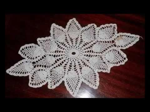 Trilho de mesa Tiffany em Crochê.3/3 Por Vanessa Marcondes. - YouTube