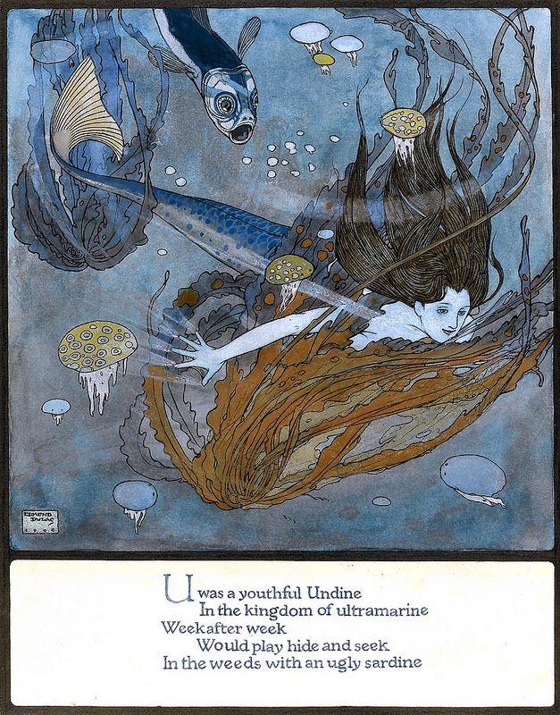dulac, edmund - U was a Youthful Undine - Amber Tree