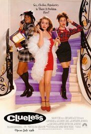 CLUELESS  (Alicia Silverstone, Stacey Dash, Brittany Murphy, 1995). A rich high school student and her rich best friend try to boost a new pupil's popularity, but reckon without affairs of the heart getting in the way.