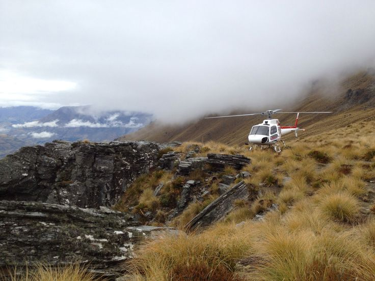 Helicopter ride to the top of the Remarkables in Queenstown, New Zealand.