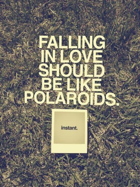 Jatuh cinta itu memang... instant! Tak pernah ada yang direncanakan...