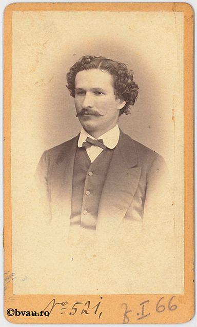 """Candescu, inginer de mine, 1869. Imagine din colecțiile Bibliotecii """"V.A. Urechia"""" Galați."""