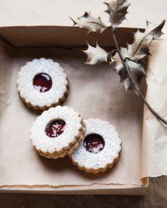 Linzer Torte Cookies - http://www.sweetpaulmag.com/food/linzer-torte-cookies #sweetpaul