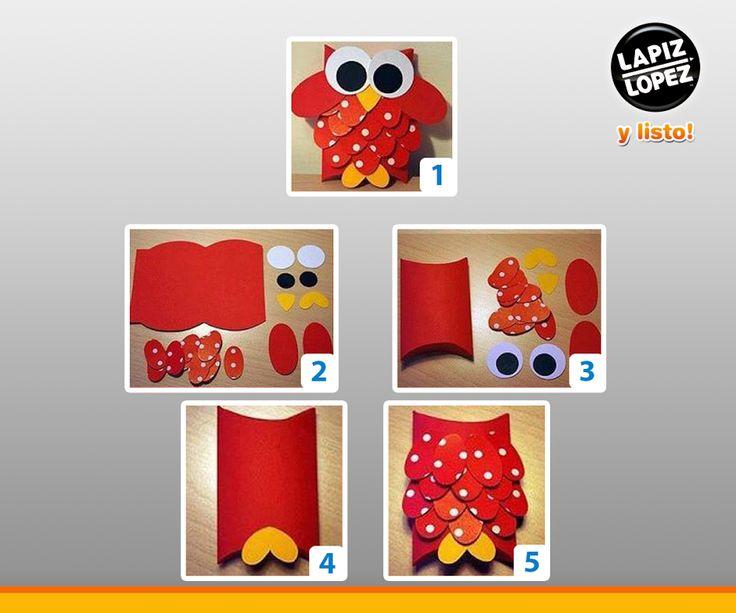 Puedes crear un búho de goma eva para que tus hijos jueguen sin riesgos =)