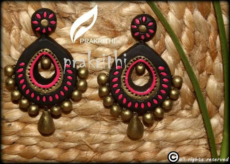 earrings - like the colors--would like to try quilling this