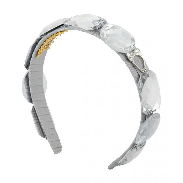 Sereni & Shentel: Natalie. Made from Grosgrain ribbon and Acrylic stones. Headband has the Sereni & Shentel 24K Gold Plated trademarked charm. This headband comes with a monogrammed pouch.  #gabianona #hairfashion #happyhead #serenishentel