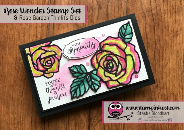 Stampin' Up! Rose Wonder Stamp Set and Rose Garden Thinlits Dies, Stesha Bloodhart with Stampin' Hoot! #stampinup #GDP088 #steshabloodhart