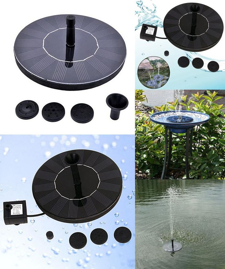[Visit to Buy] 1set Irrigation System Solar Power Fountain Pool Water Sprinkler Pump Garden Tools Sun Plants Watering Outdoor Greenhouse #Advertisement