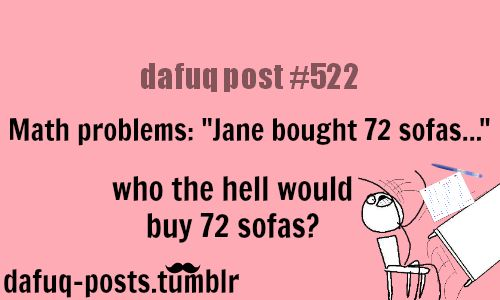 Lol so true. Jane probably had like Idk 9 living rooms...but that would mean 8 sofas would be in each..Yea these are sooo realistic...