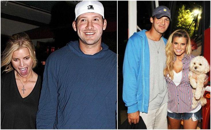 Jessica Simpson`s with then boyfriend Tony Romo