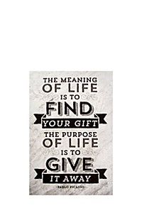 THE MEANING OF LIFE 40X60CM WALL CANVAS