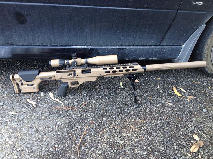 "20"" Remington 700 SPS in 308. Cerakote on MDT chassis and suppressor done at Greystone Guns in Leeston, New Zealand. PRS stock and Falcon Menace scope airbrushed by a friend of mine."