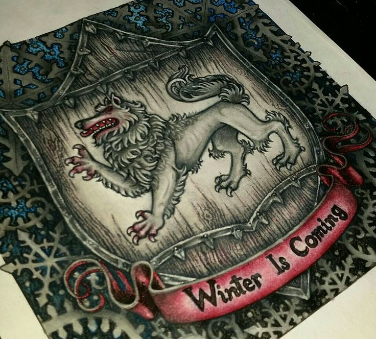Game of Thrones coloring book. Winterfell Sigil winter is coming  #gameofthronescoloringbook #adultcoloringbook  #gameofthronescoloringbook