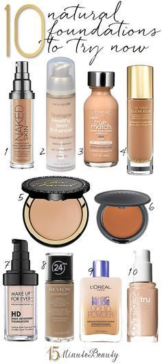 10 Best Natural Foundations