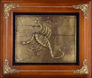 Деревянное панно Скорпион - Панно в деревянной раме <- Панно и рамки - Каталог   Универсальный интернет-магазин подарков и сувениров