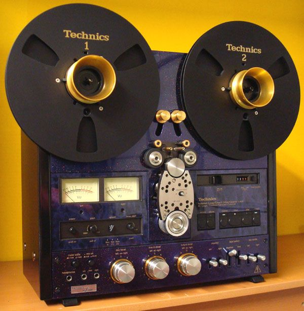 Gorgeously restored reel-to-reel tape decks