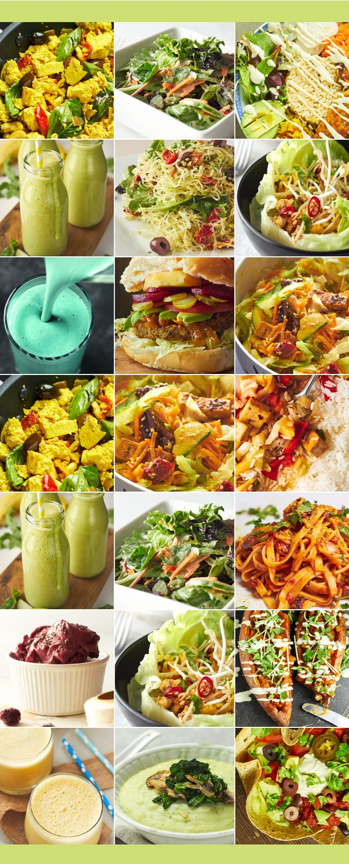 Delightful Vegans, Josh and Katie, share a one-week vegan meal plan that features their delicious easy-to-prepare plant-based gluten-free recipes.