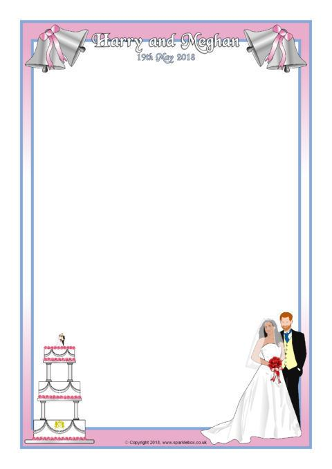 Royal Wedding 2018 A4 Page Borders Sb12463 Sparklebox Royal