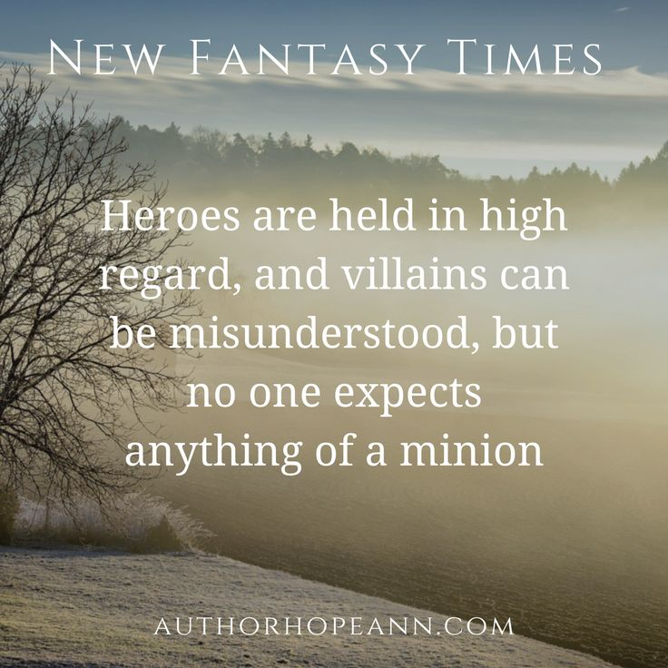 A satirical article on minion stereotypes: https://authorhopeann.com/musings-of-a-minion/