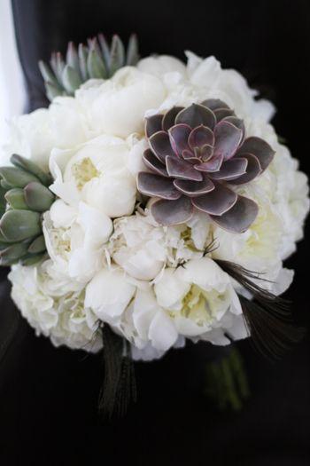 Peony & Succulent BouquetIdeas, Bridal Bouquets, Bridesmaid Dresses, Flower With Succulents, White Peonies, Peonies Bouquets, Pink Peonies, Brides Bouquets, Succulent Bouquets