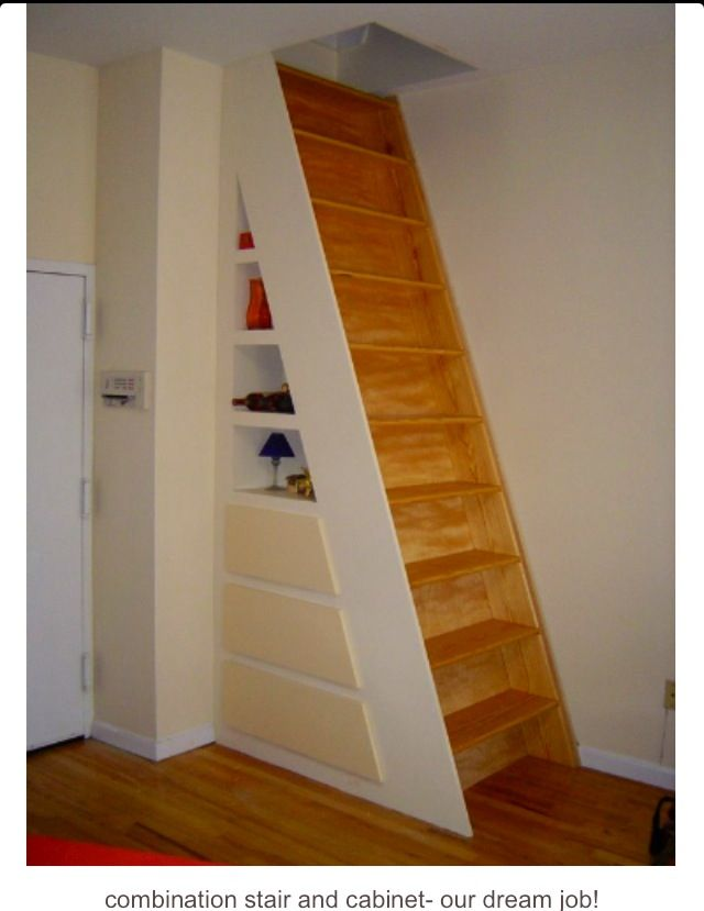 This would be perfect for attic stairs. Not sure I could fit though..lol