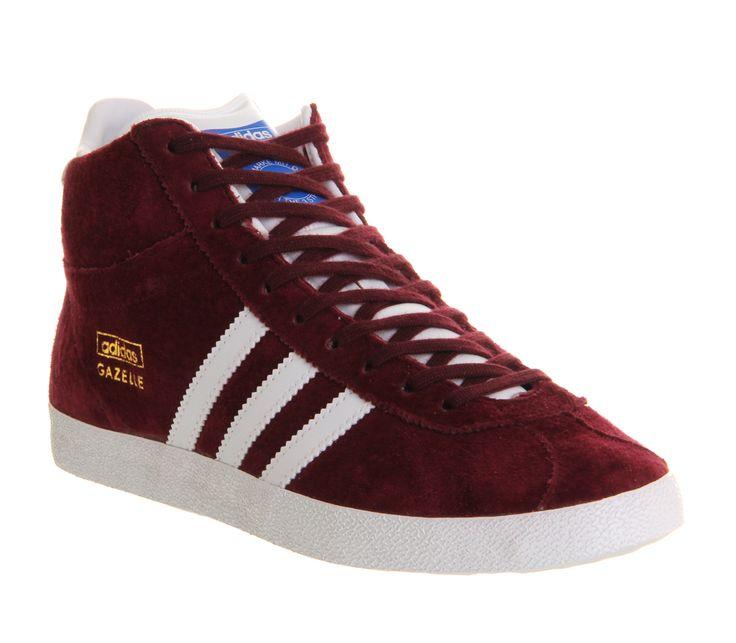Adidas Gazelle Og Mid Burgundy White Exclusive - Unisex Sports ...