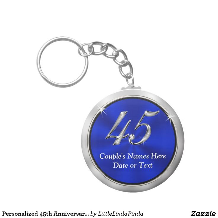 Personalized 45th Anniversary Favors Keychains