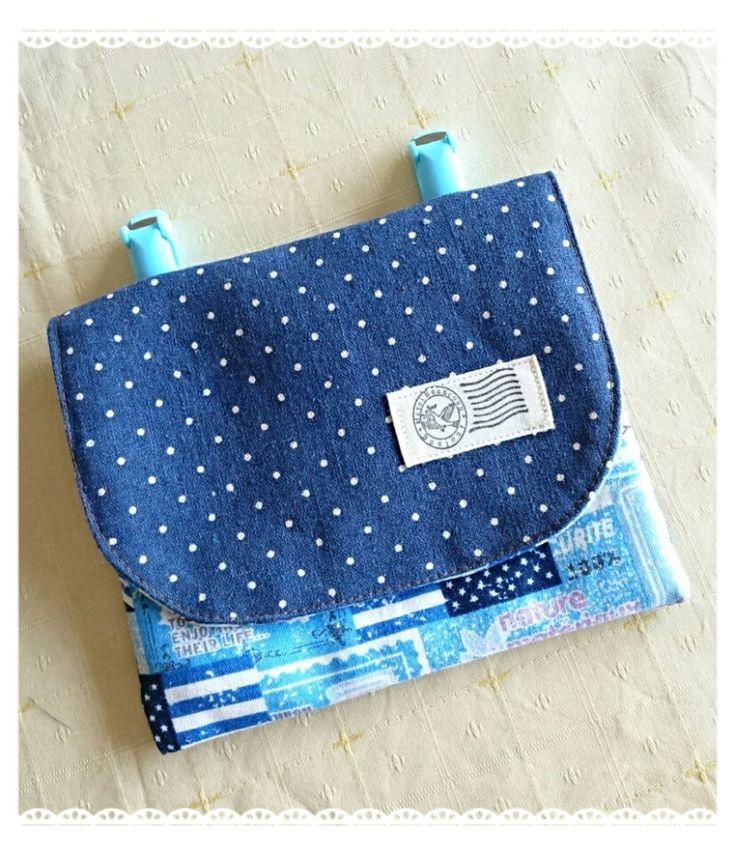 男の子用の移動ポケット♡  堺・富田林・河内長野 初心者さんの編み物教室とナチュラルかわいい便利な布小物を手作り。ハンドメイド工房merci(メルシー)