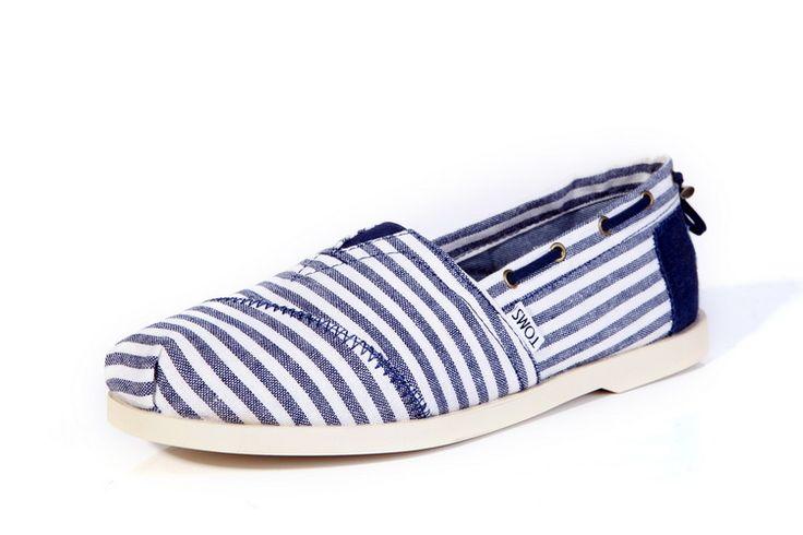 Toms Navy Stripe Nautical Mens Biminis Shoes