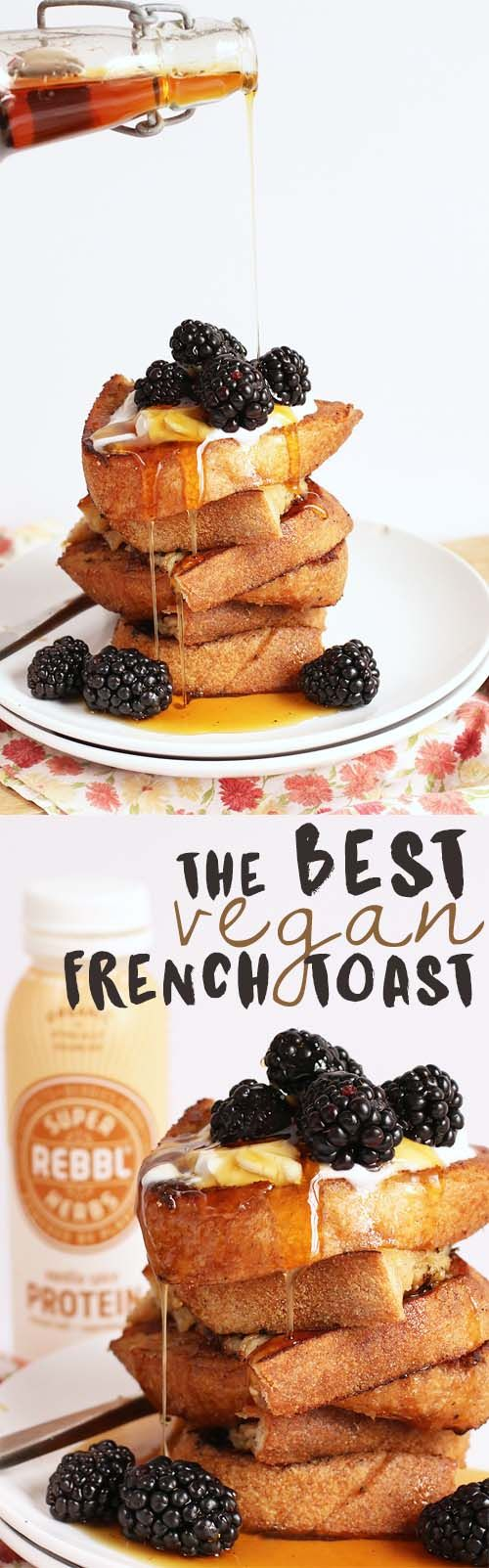 This Vanilla Spice French Toast is made with just 4 simple ingredients for a decadent and delicious vegan brunch
