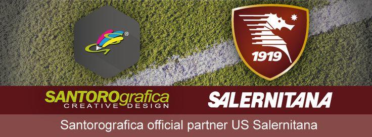 Santorografica sostiene e i granata in qualità di official partner della Salernitana