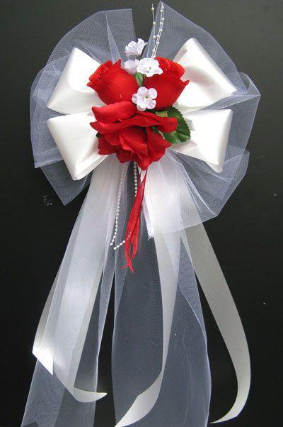 12 PEW BOWS Church Decoration Wedding Bouquet Bridal Silk ...