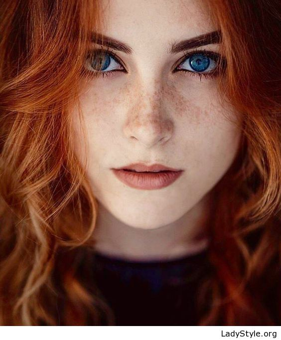 Beauty With Red Hair And Blue Eyes - Ladystyle  Mystical -5863